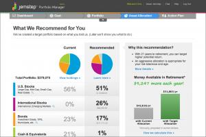 Jemstep Portfolio Manager basic recommendations
