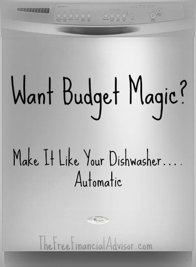 Automatic Savings like a dishwasher - The Free Financial Advisor